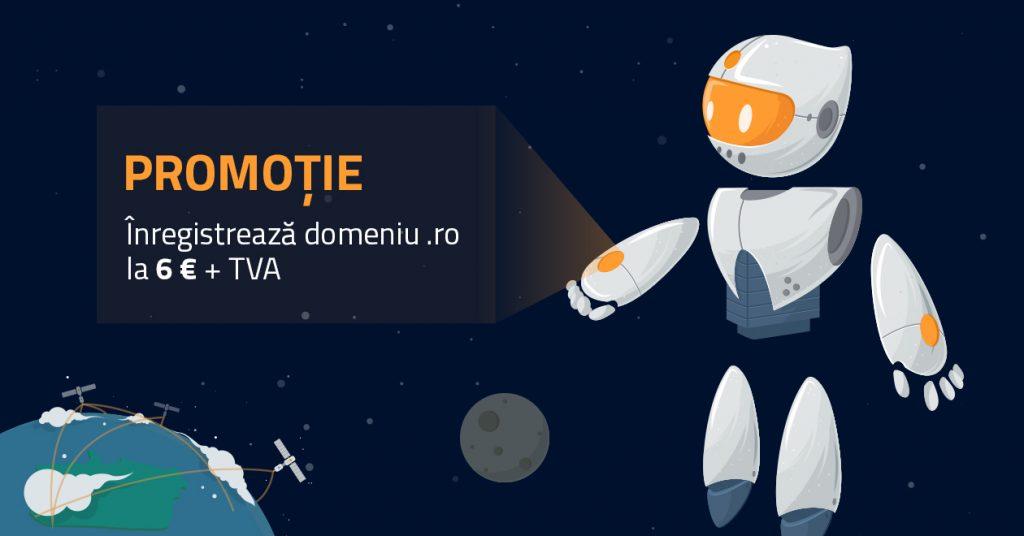 Promoție: înregistrează domeniu .ro la 6€