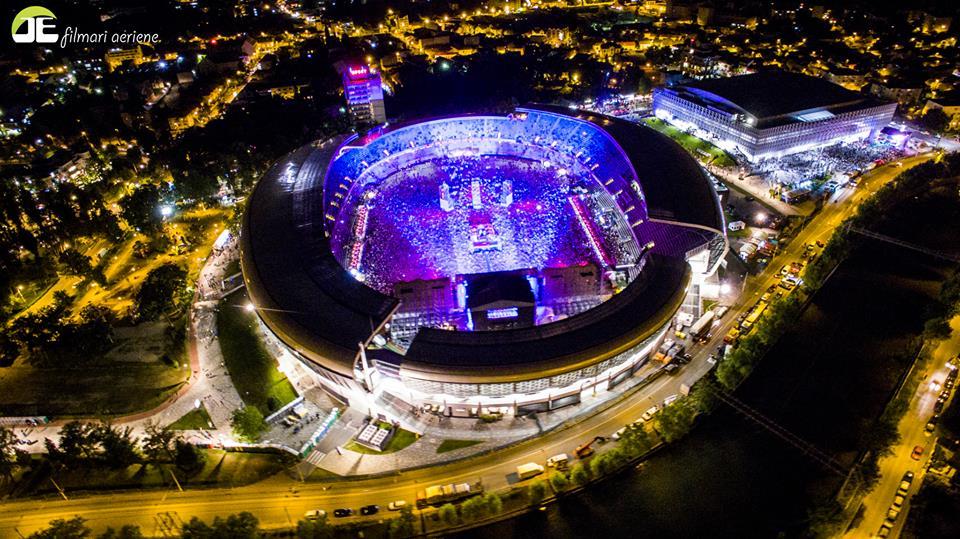 Cluj BT Arena în timpul festivalului Untold