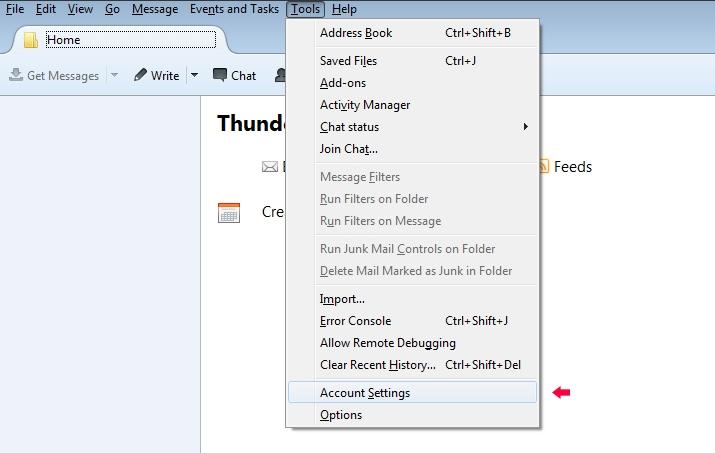 Thunderbird config image 1